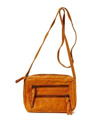 KENDRA LEATHER PARTY BAG - Cognac