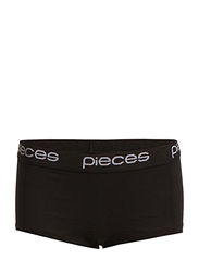 LOGO LADY BOXERS/SOLID - Black