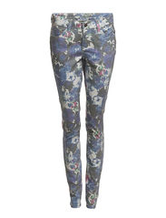 Pieces FUNKY GERBERA DELUX LEGGING/MID. BLUE