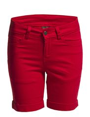 Pieces FUNKY FIVE SHORTS/RED