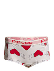 Pieces LOGO LADY BOXERS - VALENTINE