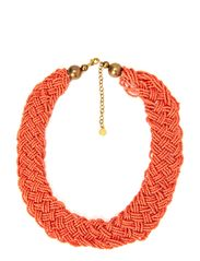 ELAMI NECKLACE - Clear Coral
