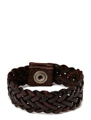 EAMY LEATHER BRACELET - Wine Red