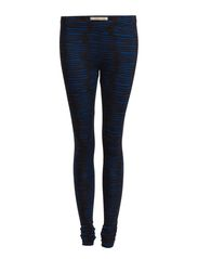 GAMMA GRUNGE STRIPE LEGGING - Royal Blue