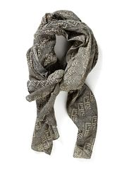 KATHLA LONG SCARF - Black