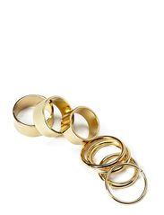 KASIRA COMBI RINGS - Gold Colour