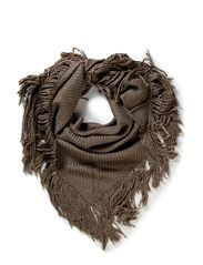 FAY TRIANGLE SCARF - Light Sand