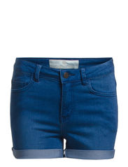 JUST JUTE WASHED R.M.W. SHORTS/M. BLUE - Medium Blue Denim