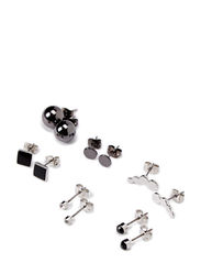 IKKA EARSTUDS PACKAGES - Silver Colour