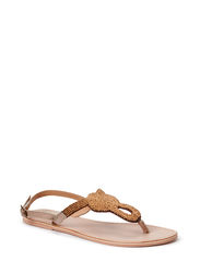 CARMEN BEADS LEATHER SANDAL GOLD - Gold Colour