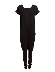 OMARA SS JUMPSUIT BOX - Black