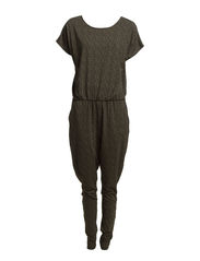 OMARA SS JUMPSUIT BOX - Safari Green