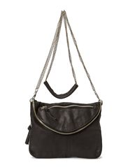 MAKALA LEATHER CROSS OVER BAG - Black