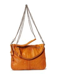 MAKALA LEATHER CROSS OVER BAG - Cognac