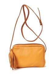 MACCIE LEATHER CROSS OVER BAG - Cognac