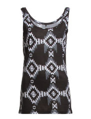 EMMA NEW TANK TOP PRINTED - Black