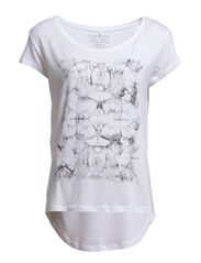 EMMA NEW SS TOP PRINTED - Bright White