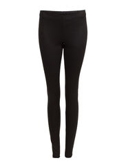 LILY SNAKE LONG LEGGINGS - Black