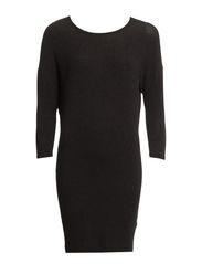 IRETTA 3/4 DRESS - Dark Grey Melange