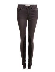 JUST JUTE MILLA WASHED LEGGING/DARK GREY - Dark Grey Denim