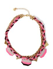 MANILLO  NECKLACE - Neon Pink