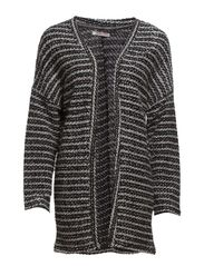 MILO LS KNIT CARDIGAN - Black