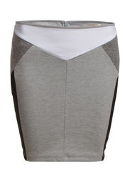 MIRAM SKIRT - Light Grey Melange