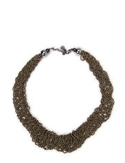 ELAMI THIN NECKLACE - Gunmetal