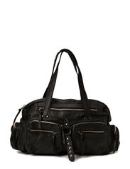 KENDRA LEATHER BAG NEW 14 - Black