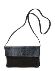 KUSINJA LEATHER CROSS OVER BAG - Black