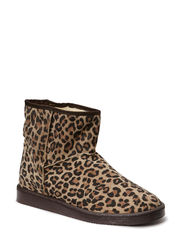 PS UME SUEDE BOOT LEOPARD MOCCA - Black Coffee