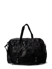 PCJINA LEATHER TRAVEL BAG - Black
