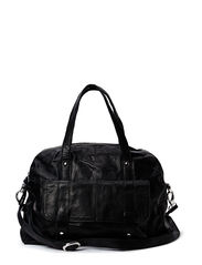 PCJINA LEATHER BAG - Black
