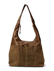 PCJACEY LEATHER BAG - Chocolate Chip
