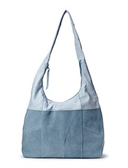 PCJACEY LEATHER BAG - Faded Denim