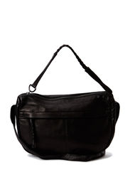 PCJOSSE LEATHER CROSS BODY BAG - Black