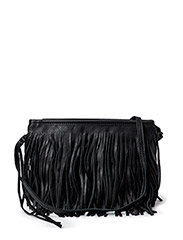 PCJINGER LEATHER CROSS BODY  BAG - Black