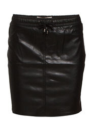 PCJUST NEW IMITATED WAIST SKIRT EXP/BLK - Black