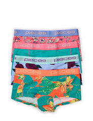 LOGO LADY BOXERS 14-068 FLORAL 4-PACK - Bright White
