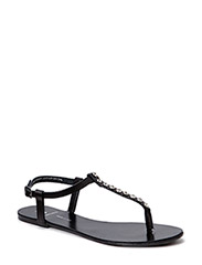 PSCHRISSIE LEATHER SANDAL BLACK - Black