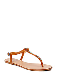 PSCHRISSIE LEATHER SANDAL MOCCA - Mocca