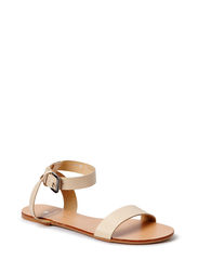 PSCARLA LEATHER SANDAL NUDE - Nude