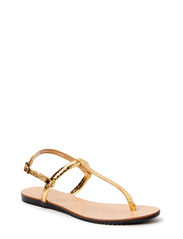 PSTAHA LEATHER SANDAL GOLD - Gold Colour