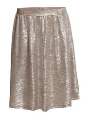 PCPAULINE KNEE SKIRT EXP - Silver Colour