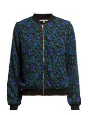 PCHIT LS BOMBERJACKET BOX EXP/BLK FLORAL - Black