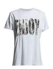 PCPOWER T-SHIRT EXP/ENJOY PRINT - Bright White