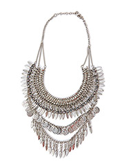 PCJENSA SHORT NECKLACE - Silver Colour