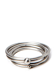 PCJIDINE COMBI RINGS - Silver Colour