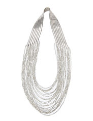 PCJANNIA NECKLACE - Silver Colour