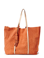 PCNANCY SUEDE BAG - Baked Clay